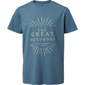 North Bend Vertical Camiseta Niños, blue slate